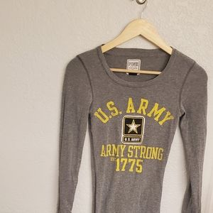 Pink brand us army long sleeve shirt